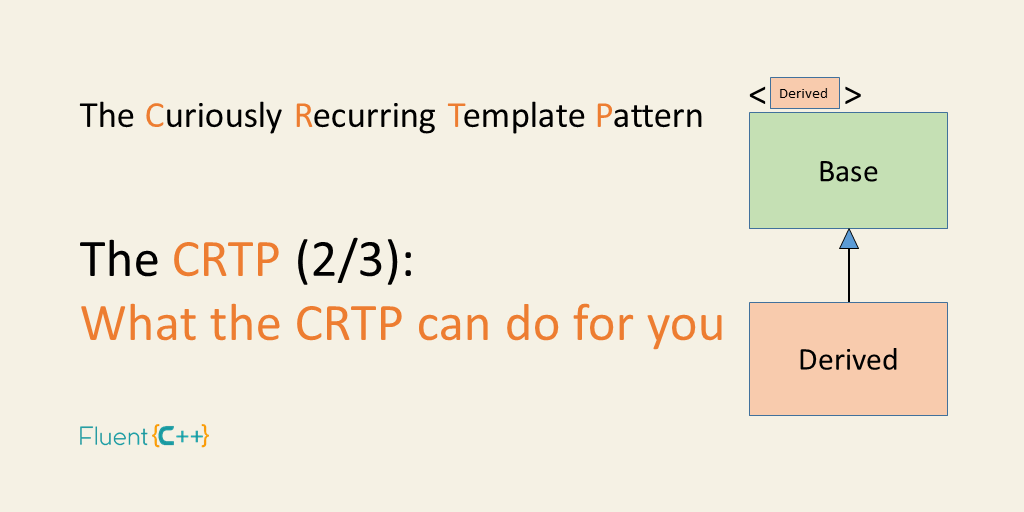 What the curiously recurring template pattern can bring to your code what the curiously recurring template pattern can bring to your code fluent c maxwellsz
