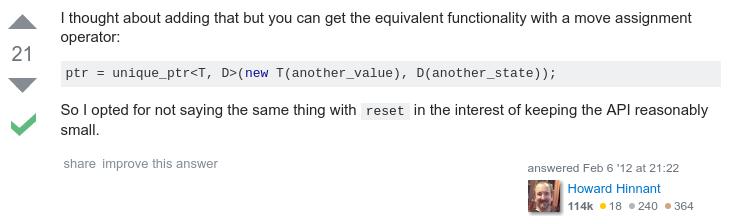 unique_ptr reset deleter