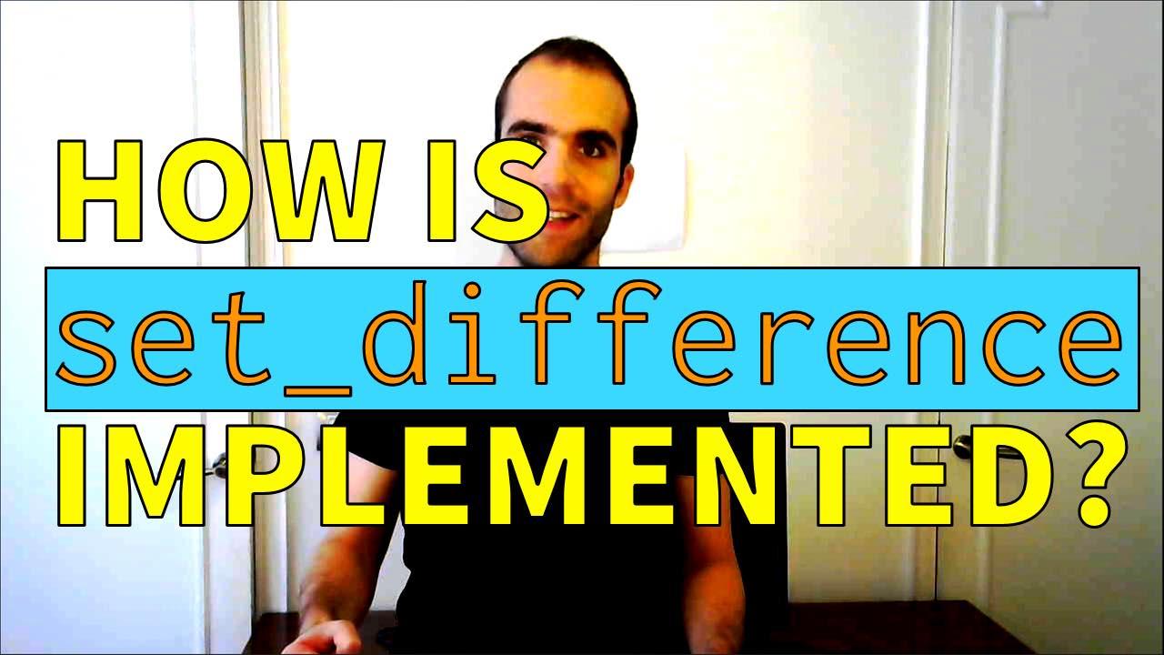 C++ STL set_difference