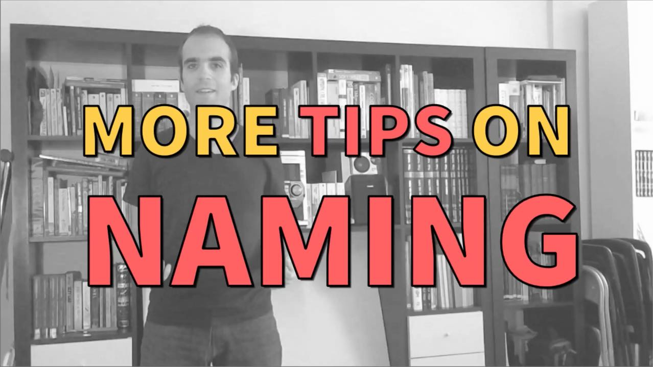 More tips on naming