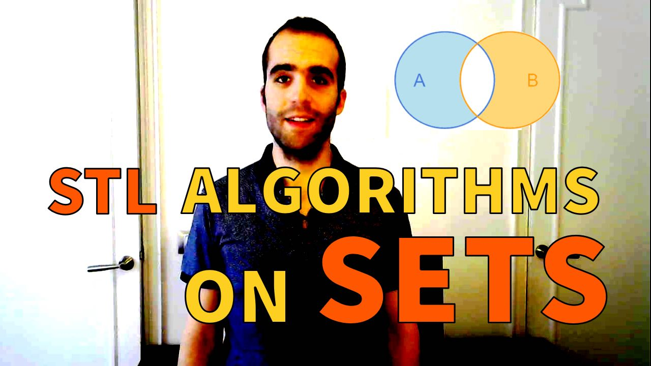 STL algorithms sets C++