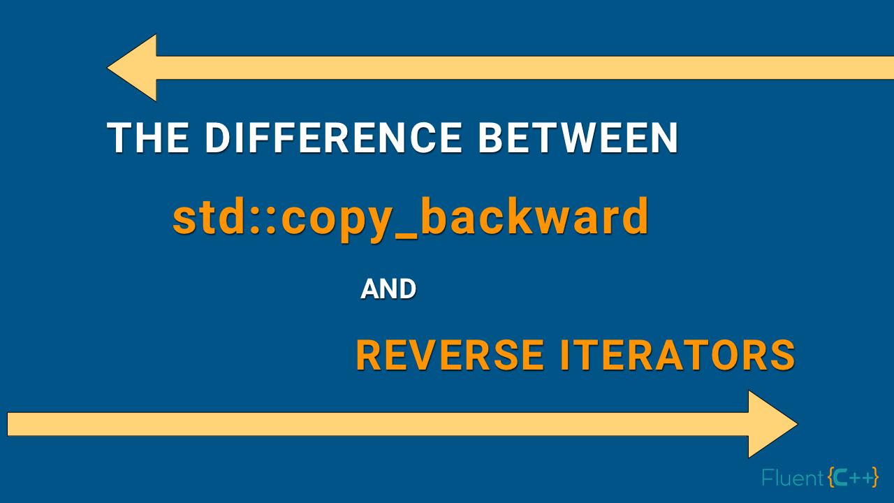copy_backward reverse iterators